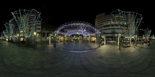青葉シンボルロード イルミネーション 360度パノラマ写真〈3〉
