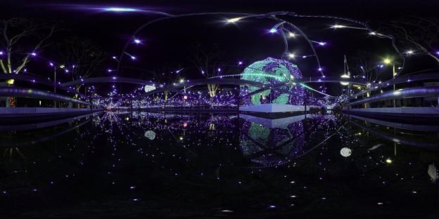 青葉シンボルロード イルミネーション 360度パノラマ写真〈6〉