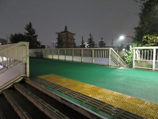 信濃町駅前歩道橋(夜)