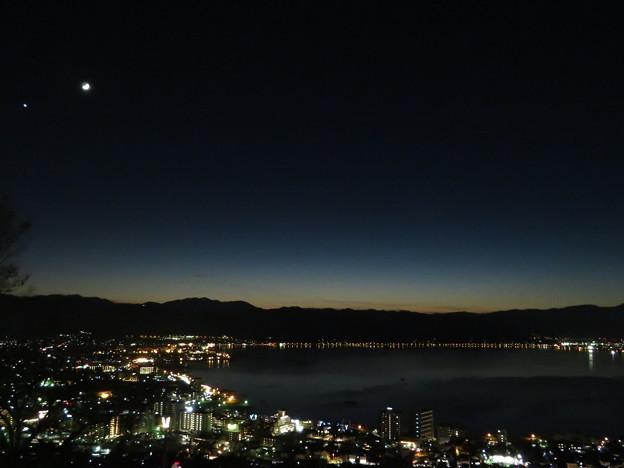 諏訪湖(日没後)