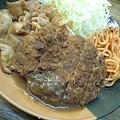 Photos: 神保町のメンチカツしょうが焼き定食