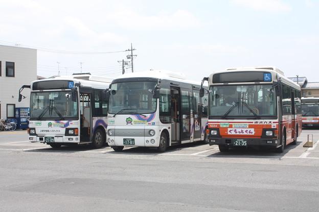 東武バス 5023号車・9951号車・5024号車