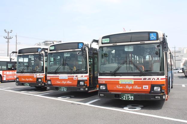 東武バス 9947号車・9980号車・5038号車