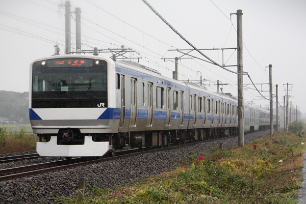 常磐線 E531系K405編成 394M 普通 上野 行