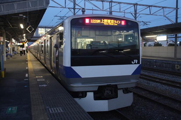 常磐線 E531系K421編成 1229M 普通 高萩 行