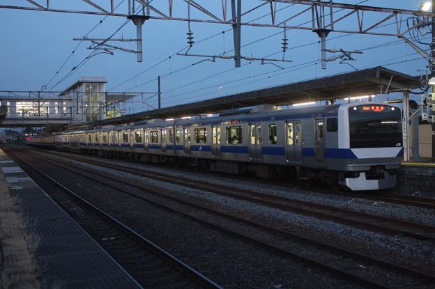 常磐線 E531系K411編成 454M 普通 上野 行