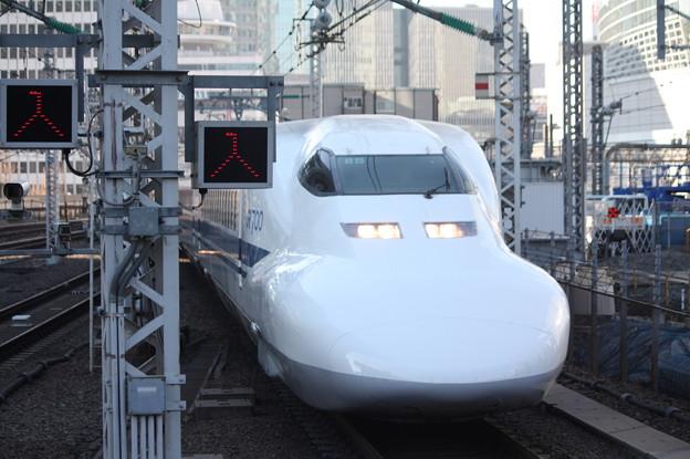 東海道新幹線 700系3000番台B5編成 東京駅到着