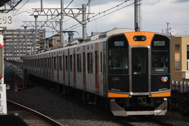 阪神本線 1000系1261F 快速急行 神戸三宮 行