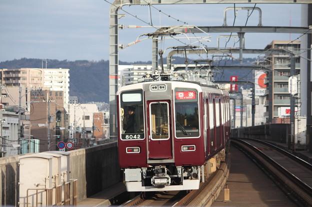 阪急宝塚線 8000系8042F 回送