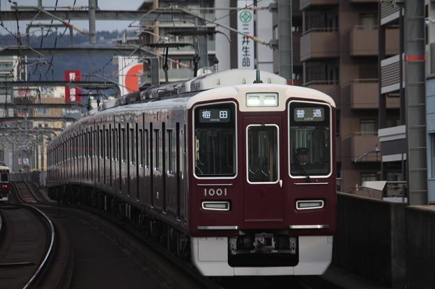 阪急宝塚線 1000系1001F 普通 阪急梅田 行