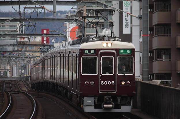 阪急宝塚線 6000系6006F 準急 阪急梅田 行