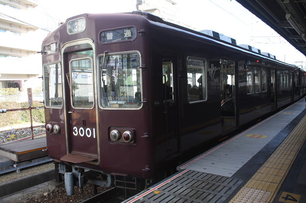阪急伊丹線 3000系3001F 普通 阪急伊丹 行 (1)