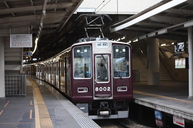 阪急神戸線 8000系8002F 普通 阪急梅田 行 (3)