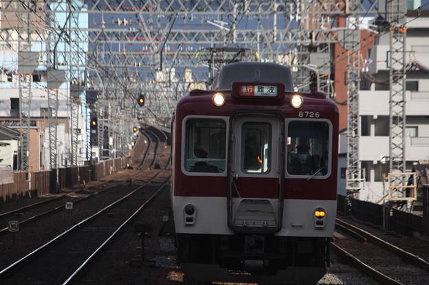 近鉄奈良線 8000系8726F 急行 難波 行