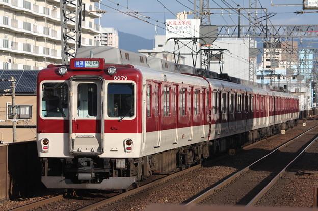 近鉄奈良線 8000系8079F 普通 西大寺 行