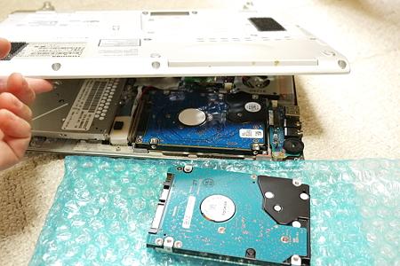 HDD換装完了