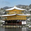 雪景色金閣寺