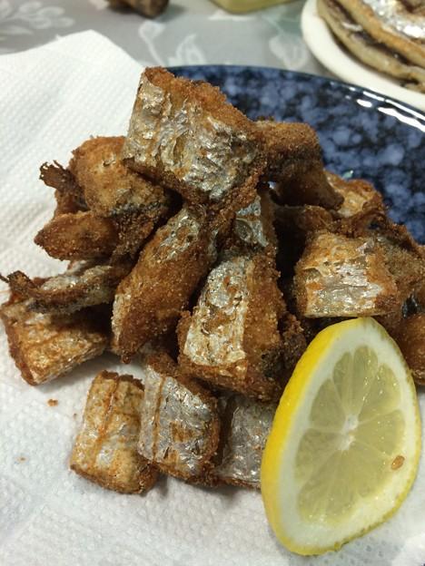 写真: 太刀魚の唐揚げ