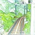 その渋い電車は叡山電鉄鞍馬線