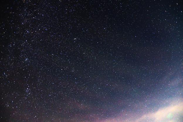 写真: 東寄りの空のカシオペア座(左寄り) 天の川撮影会