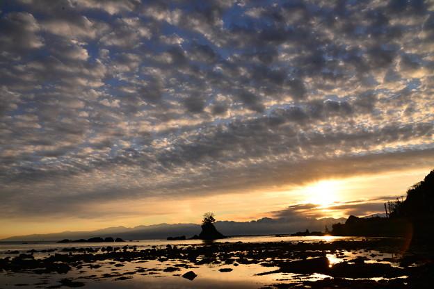雨晴海岸の夜明け