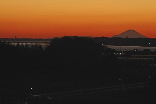 牛久大仏と富士山