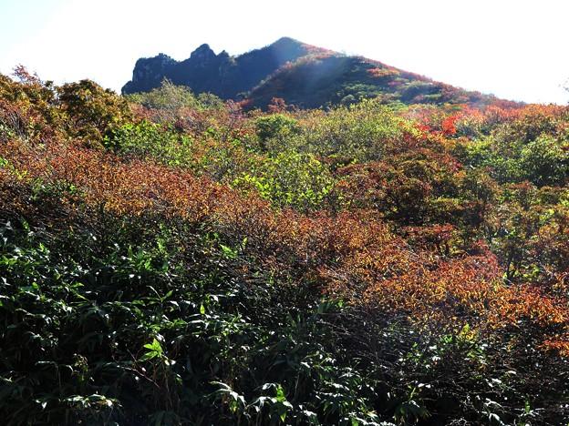 磐梯山を中腹から望む