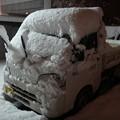 雪の軽トラ