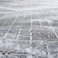 雪掃きの跡