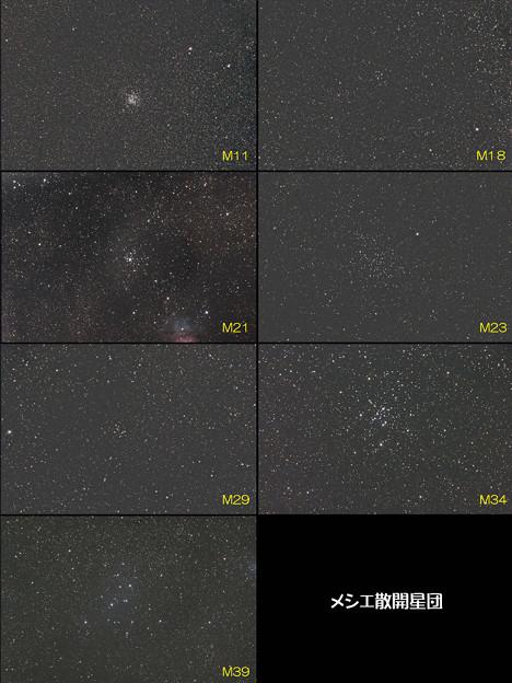 写真: メシエ散開星団