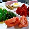 Photos: 苺の朝食プレート