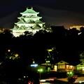 名古屋城と街明かり