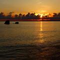 写真: 朝日と夕日、見てわかるのでしょうか?^^