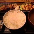 写真: ぶり西京焼とつくば鶏つくね。低糖質でいくぜぃ。