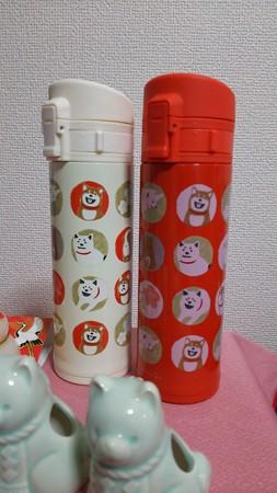 紅白柴犬ボトル