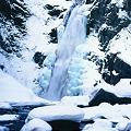 写真: 厳寒の秋保大滝