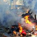 近所の神社でどんど焼き