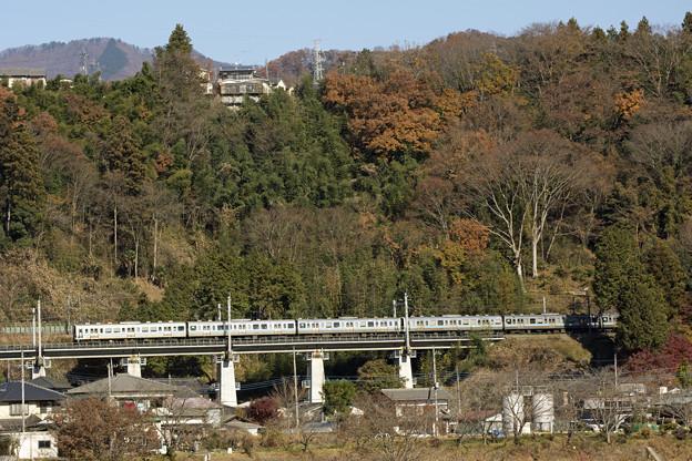 211系、上野原の秋