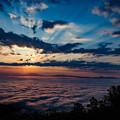 写真: 光芒と雲海