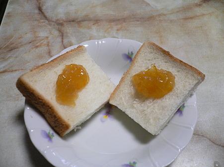 自家製柚子ジャムとパン