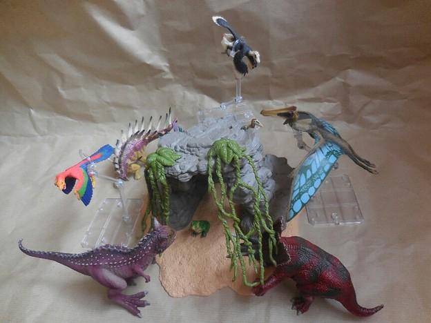 シュライヒ(Schleich)  恐竜と洞窟セットのジオラマ