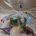 写真: シュライヒ 恐竜と洞窟セット