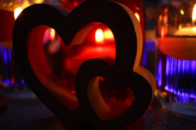 写真: 愛の炎