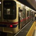 都営新宿線新宿駅5番線 京王9041F各停本八幡行き停止位置よし