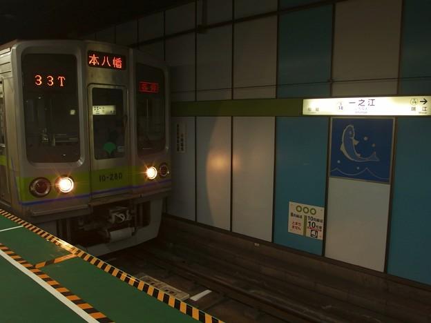 都営新宿線一之江駅2番線 都営10-280F各停本八幡行き(2)