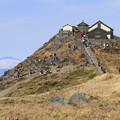 写真: にぎわう山頂