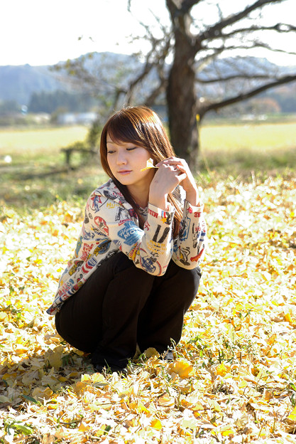 写真: 秋の日に