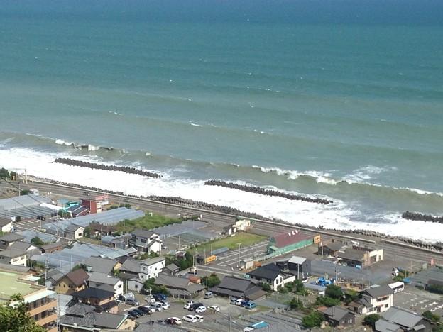 海と青空と町並み3