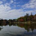 写真: 漂う雲を眺める