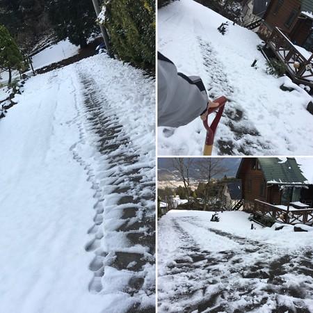 雪かきがんばる!